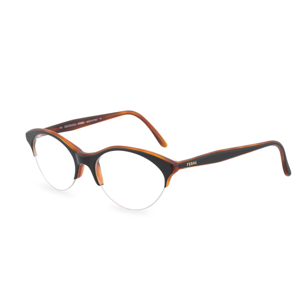 Gianfranco Ferre Miao Cat Eye Glasses - Black / Amber