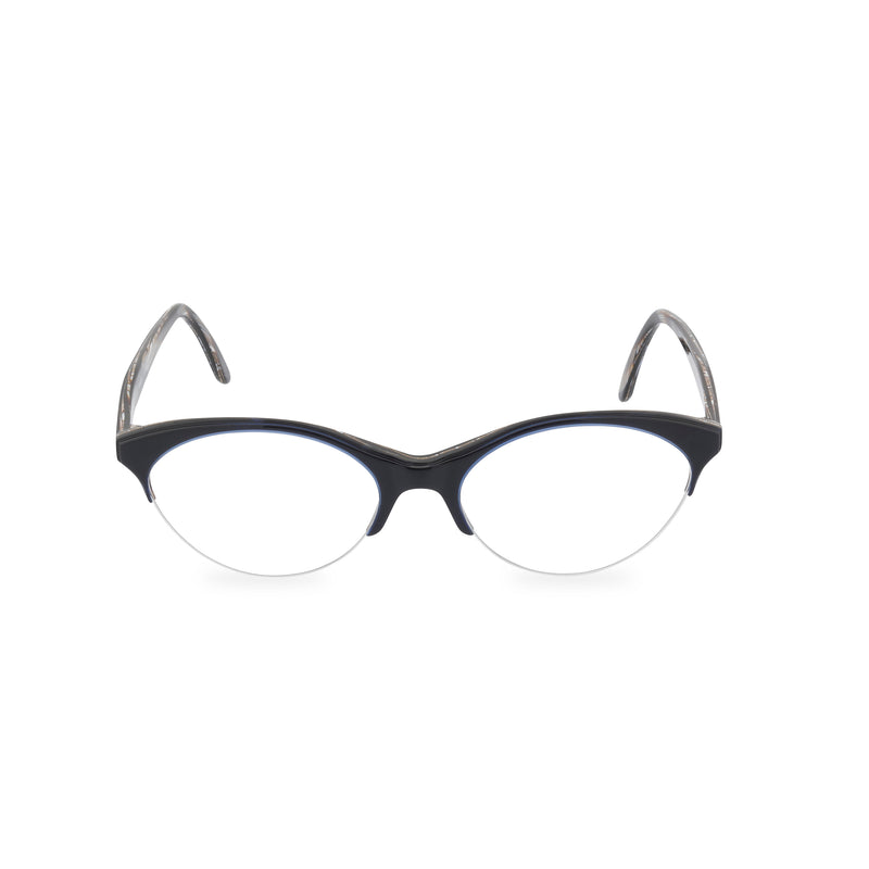 Gianfranco Ferre Miao Cat Eye Glasses - Midnight Blue / Horn