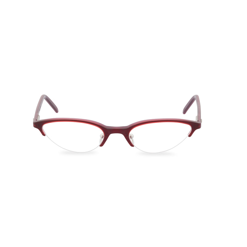 Max Mara Kitten Cat Eye Glasses - Deep Ruby