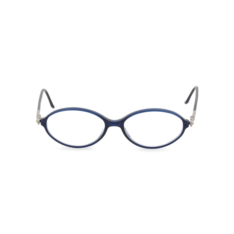 Valentino Literati Oval Glasses - Midnight Blue
