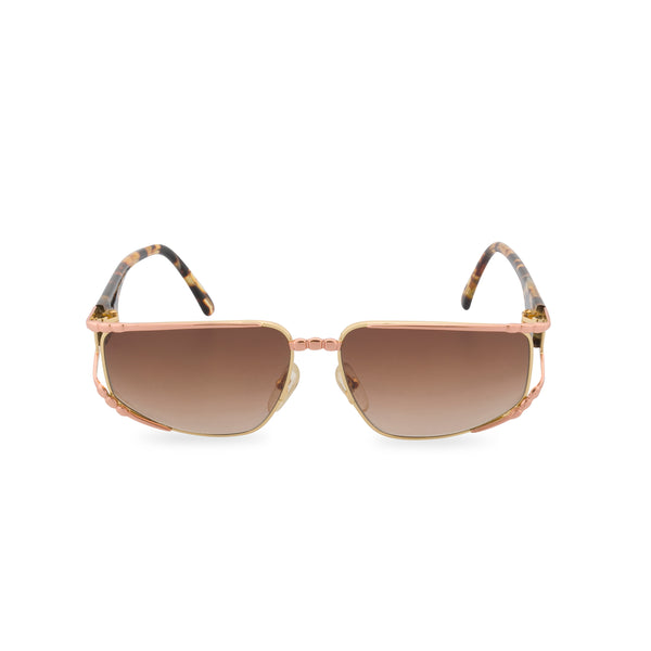 Maga 7345 C - Rectangular Sunglasses Rose Gold / Tortoise