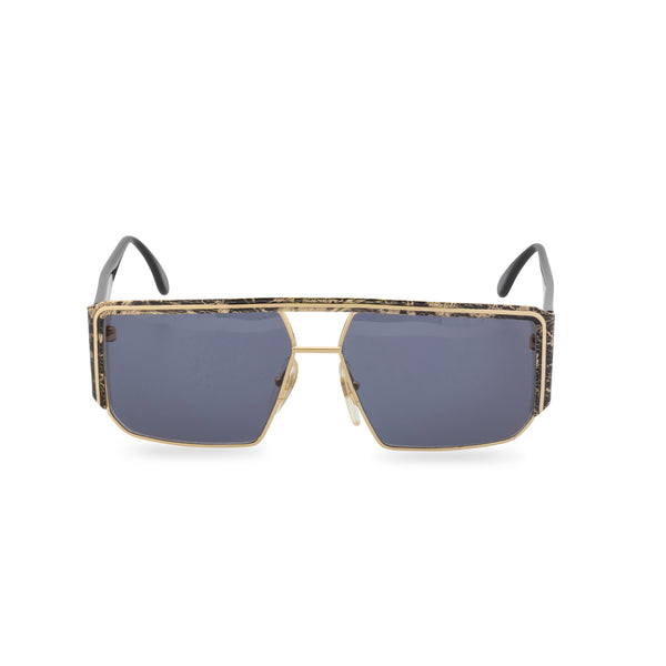 Maga 7341N - Square Sunglasses Gold Black Swirl