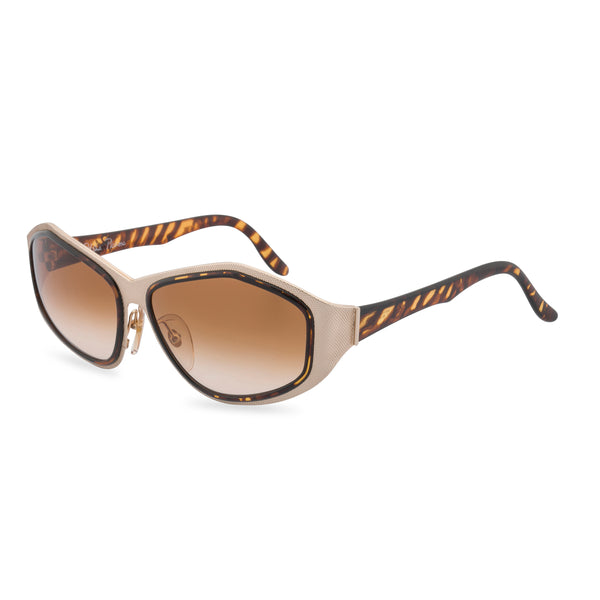 Paloma Picasso 3715 - Oval Sunglasses Gold Tiger