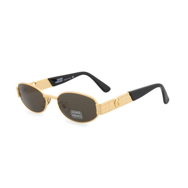 Versace S20 - Oval Sunglasses Gold