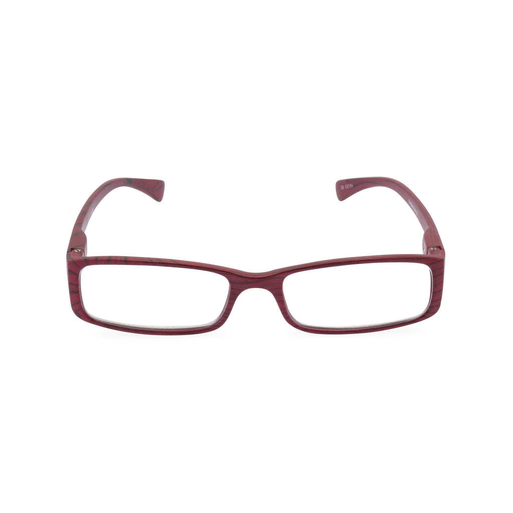 Woody Square Glasses - Red