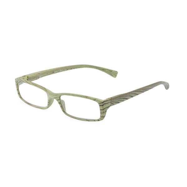 Woody Square Glasses - Green