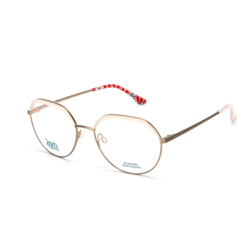 Bourne round frames in cream from the William Morris Gallery Collection, side view