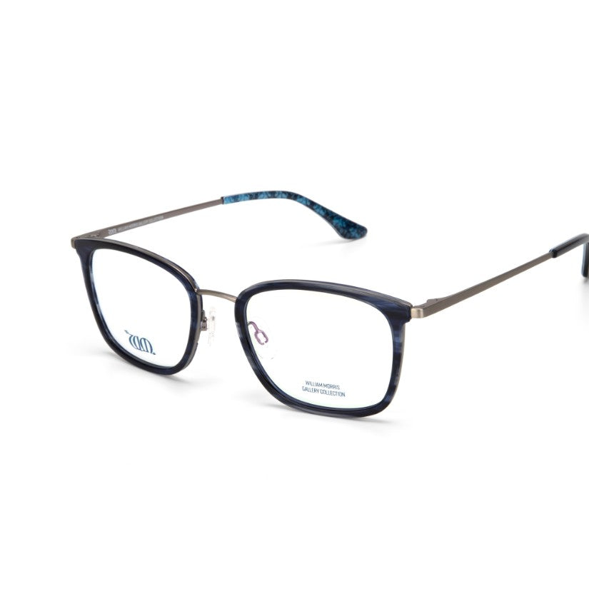 Brother Rabbit rectangular frames in blue from the William Morris Gallery Collection, side view