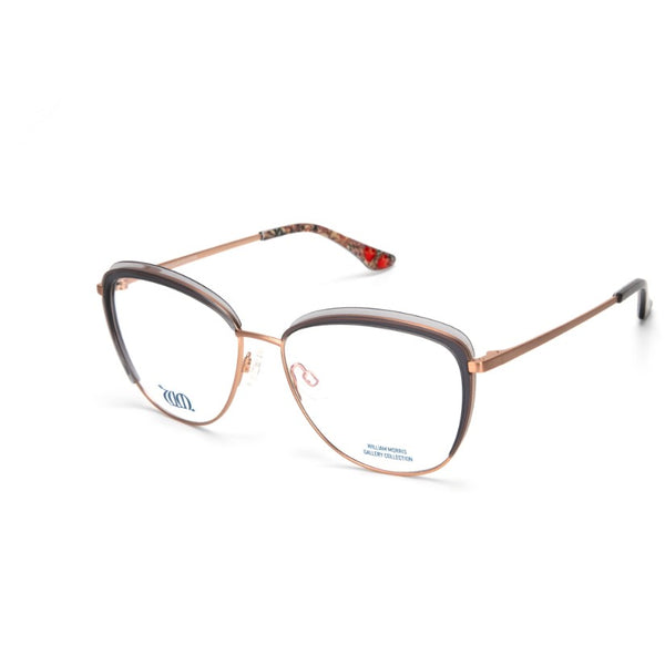 Gorgeous Golden Lily Cat Eye frame in grey from the William Morris Gallery collection. Side view