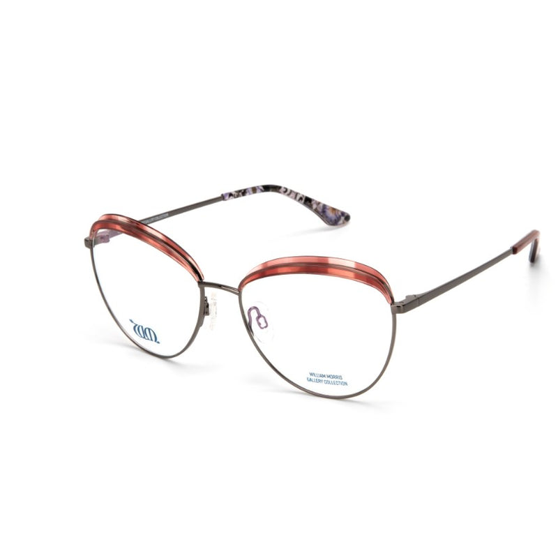 Lodden round frames in copper from the William Morris Gallery Collection, side view