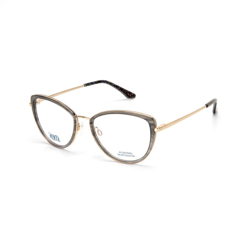 Millefleurs Grey Cat Eye frames from the William Morris Gallery Collection side view