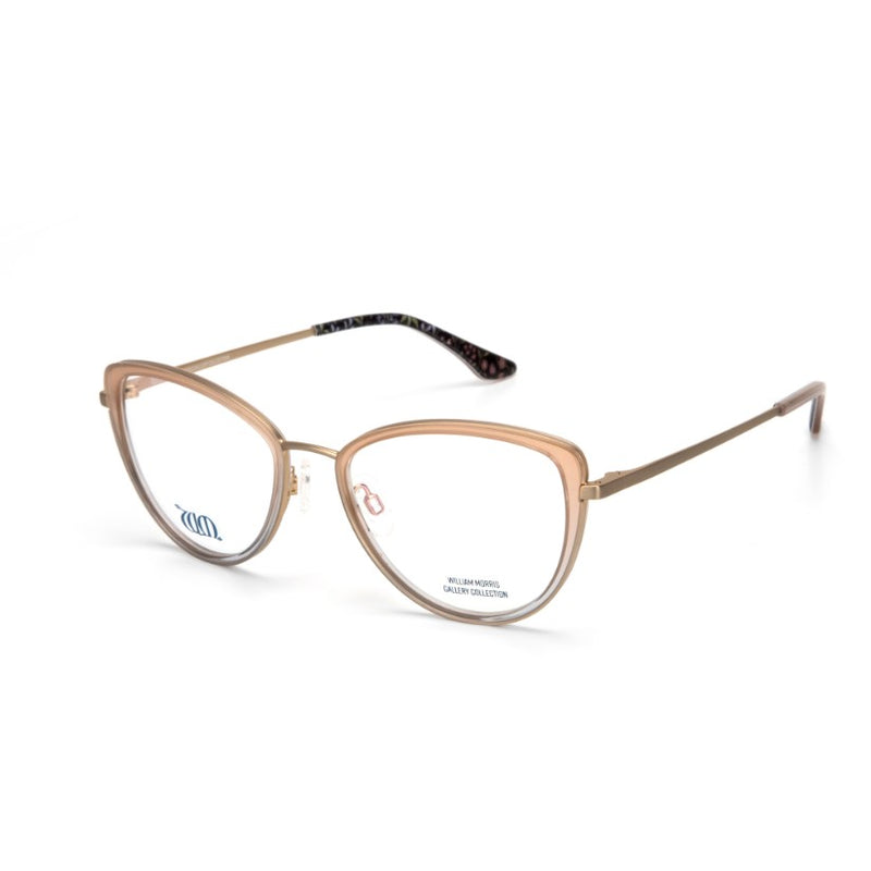 Millefleurs Cat Eye frames in sand from the William Morris Gallery Collection side view