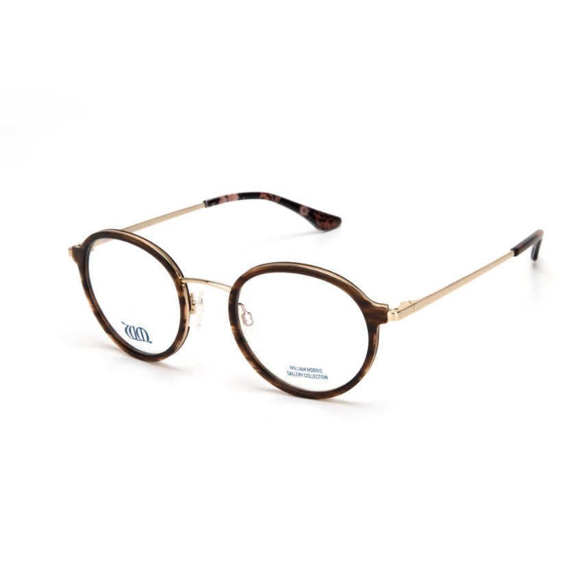 Riverwind round glasses in brown from the William Morris Gallery Collection, side view