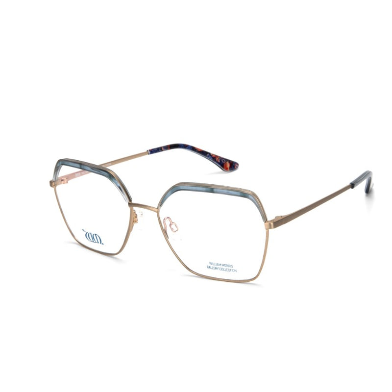 Strawberry Thief square frames in blue from the William Morris Gallery Collection, side views