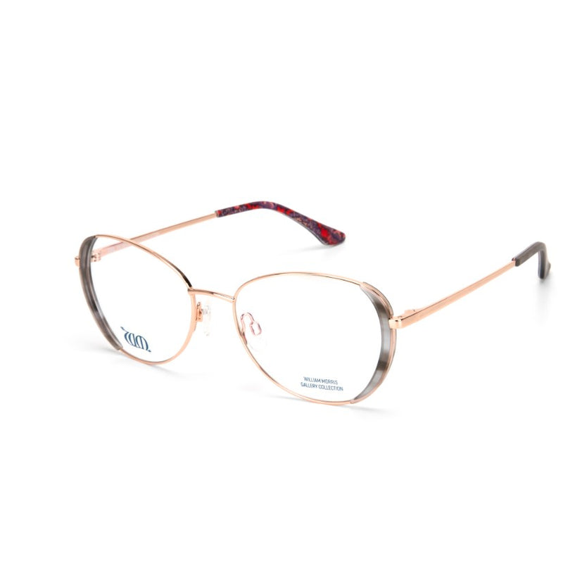 Wandle oval frames in grey from the William Morris Gallery Collection, side view