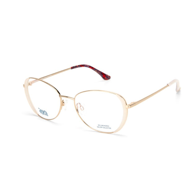 Wandle oval frames in cream from the William Morris Gallery Collection side view