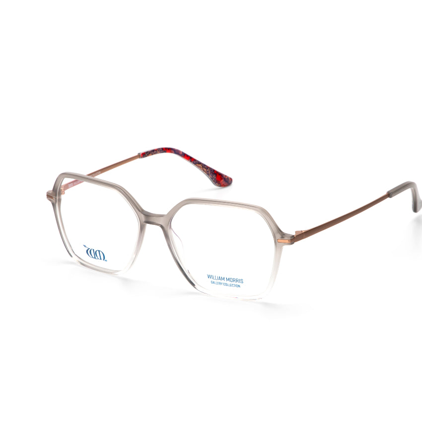 Graduated grey square shaped Wandle frames from the William Morris Gallery Collection, side view