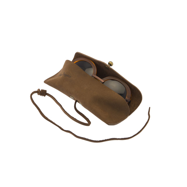 Brown Leather Wrap Case