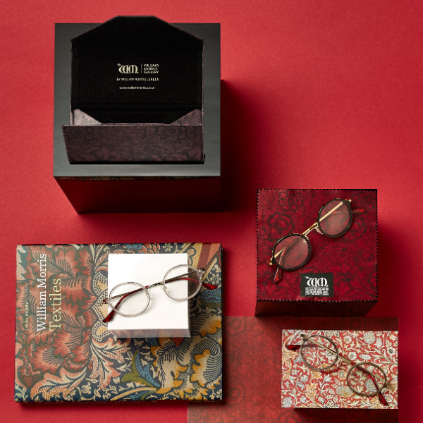 Poppy range of frames, matching cases and cloths from the William Morris Gallery Collection