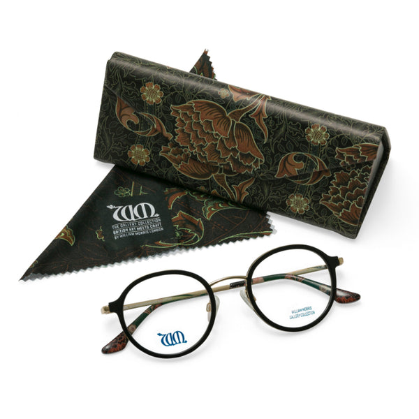 Riverwind in black with matching case and cloth from the William Morris Gallery Collection
