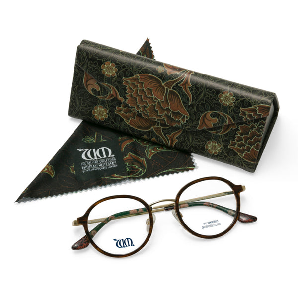 Riverwind in brown with matching case and cloth from the William Morris Gallery Collection