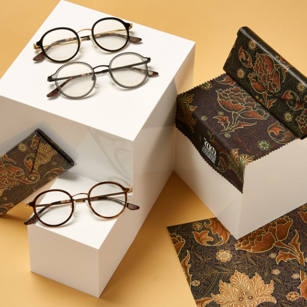 The Riverwind range of frames, matching cases and cloths from the William Morris Gallery Collection