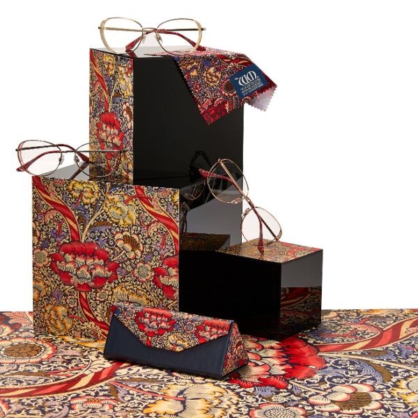 The Wandle range of frames, cases and matching cloths from the William Morris Gallery Collection