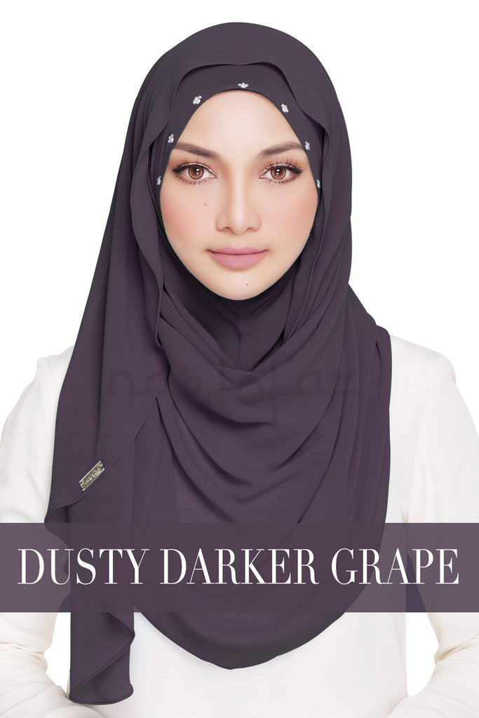CLASSY WARDA - DUSTY DARKER GRAPE