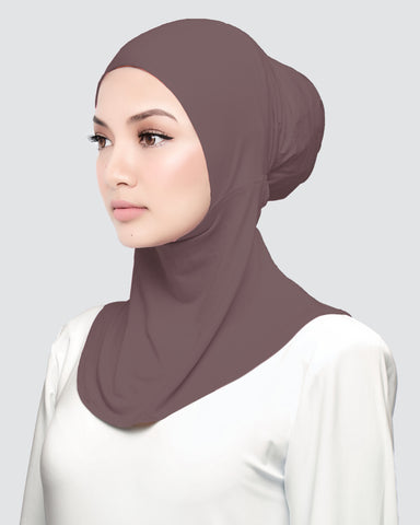 INNER NECK - SMOKEY PALE MAUVE BROWN