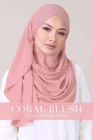JEMIMA - CORAL BLUSH WITH ZEPHYR INNER