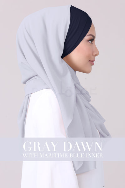 JEMIMA - GRAY DAWN WITH MARITIME BLUE