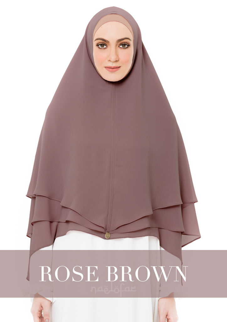 KHIMAR AISYA - ROSE BROWN