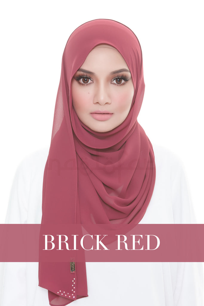MISS LOFA PLAIN - BRICK RED