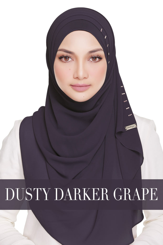 QUEEN WARDA - DUSTY DARKER GRAPE
