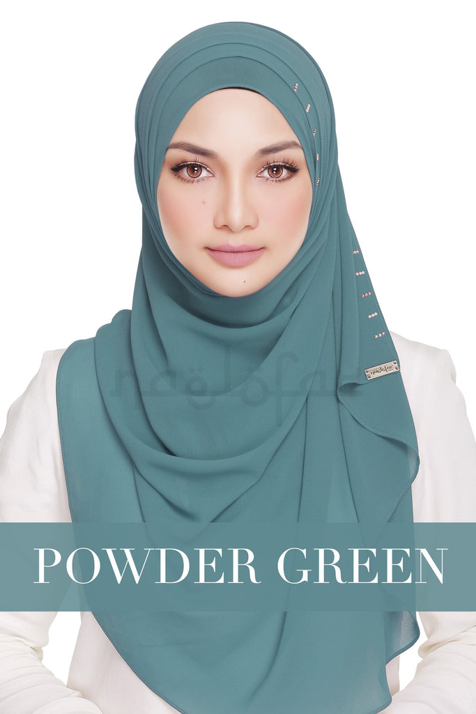 QUEEN WARDA - POWDER GREEN