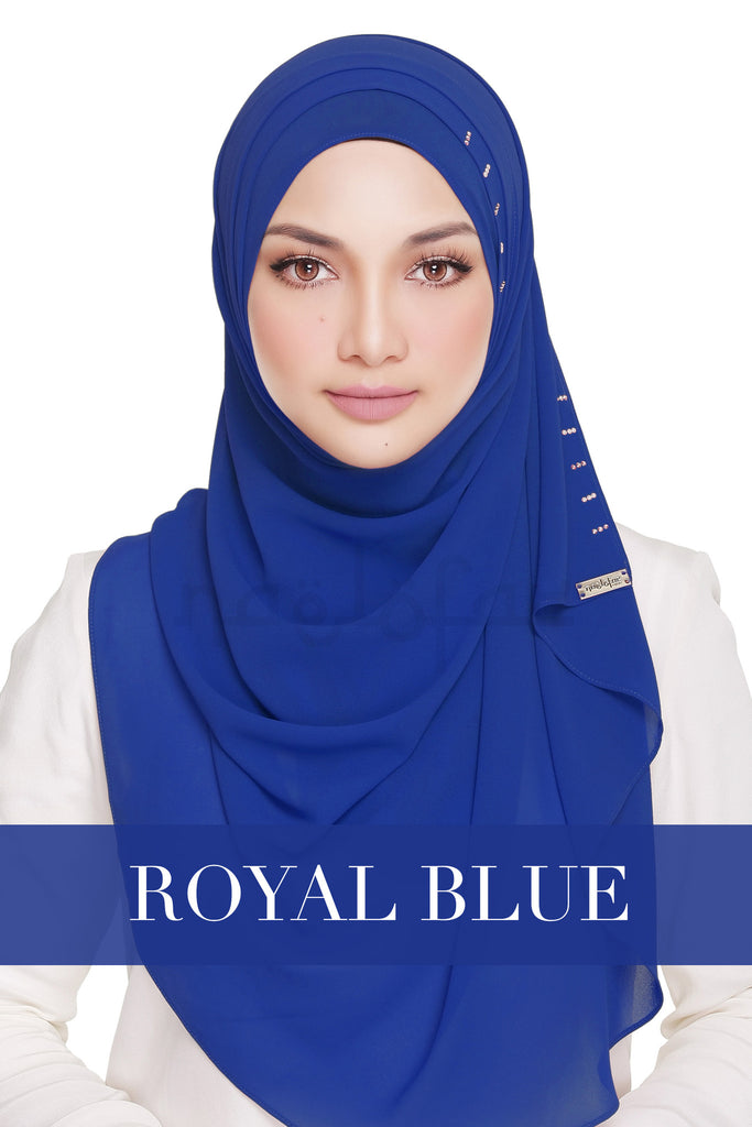 QUEEN WARDA - ROYAL BLUE
