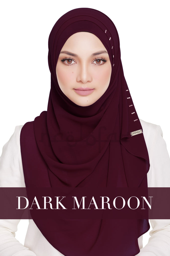 QUEEN WARDA - DARK MAROON