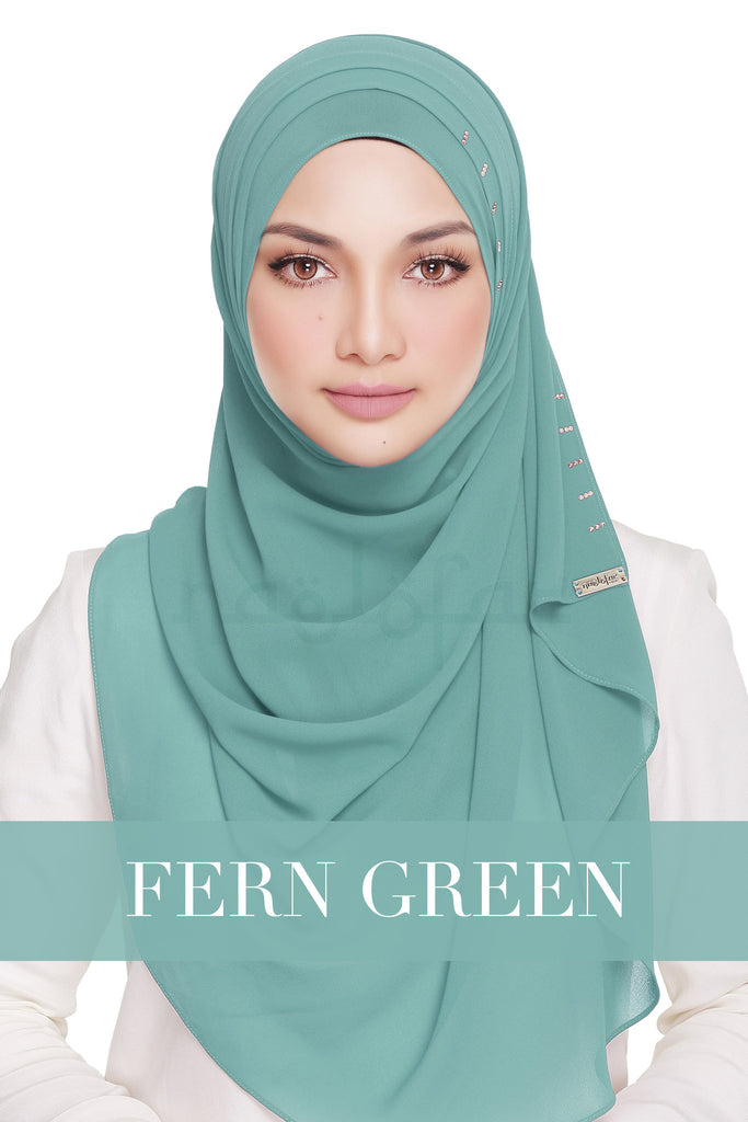 QUEEN WARDA - FERN GREEN