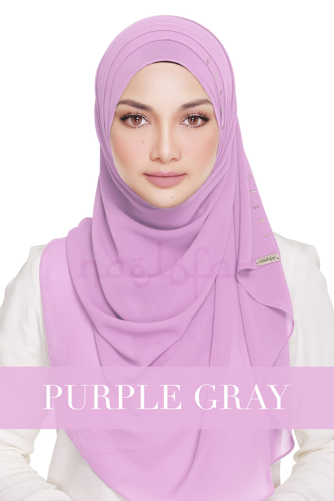 QUEEN WARDA - PURPLE GRAY