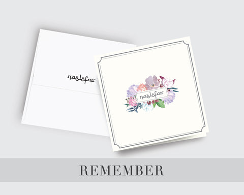 WISH CARD NAELOFAR - REMEMBER