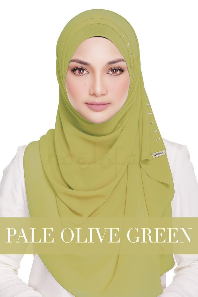 QUEEN WARDA - PALE OLIVE GREEN