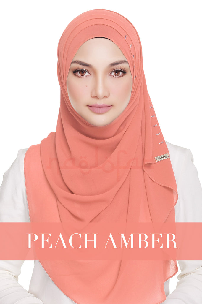 QUEEN WARDA - PEACH AMBER