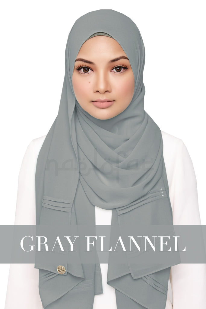 ZEHRA - GRAY FLANNEL