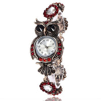 Owl Luxury Crystal Bracelet Watch