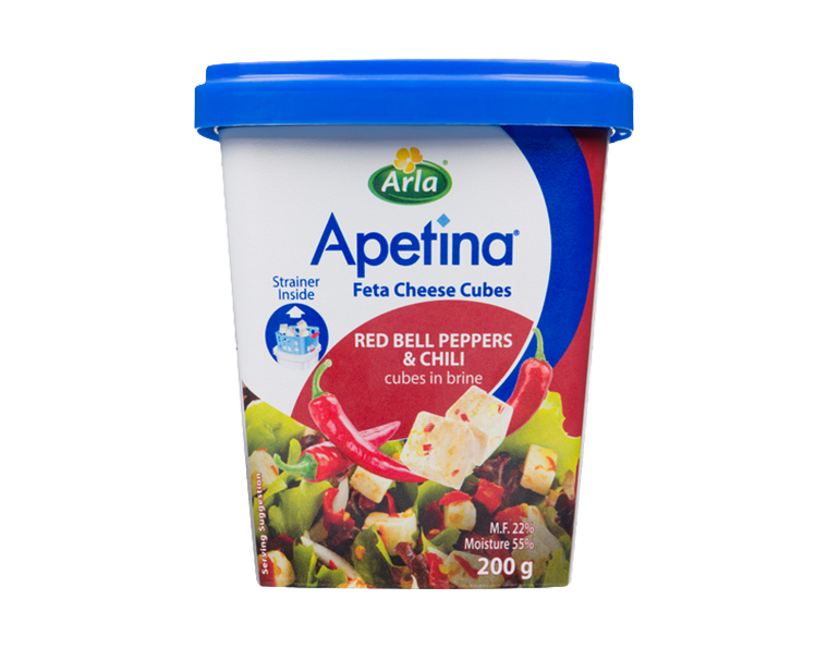 Apetina Feta Cubes with Red Peppers and Chili 200 grams