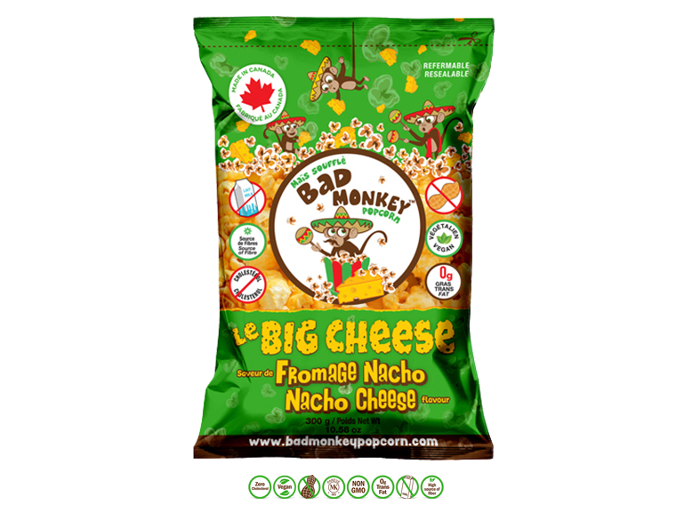 Bad Monkey Nacho Cheese Popcorn