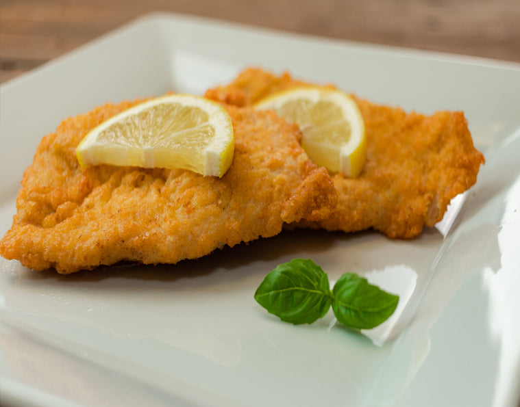 Breaded Chicken (with Lemon Wedge)