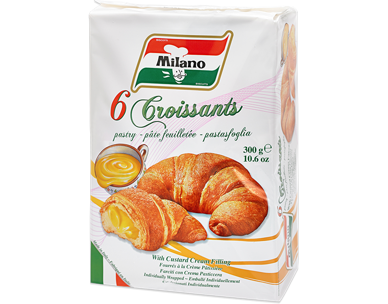 Milano Custard Cream Filled Croissants