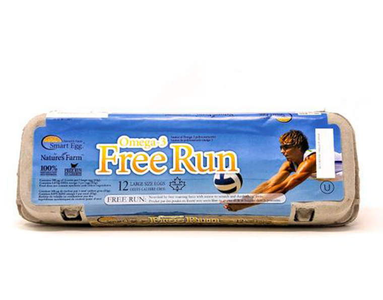 Omega-3 Free Run Large White Eggs