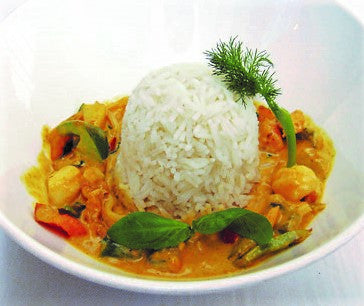 Wok de pollo al curry